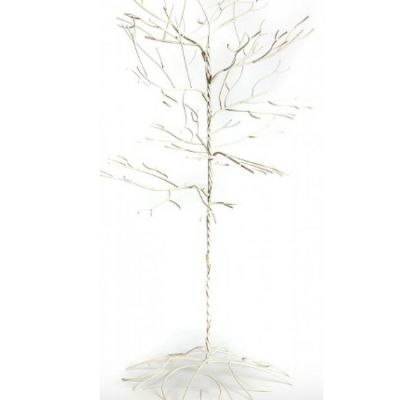 Metal Crystal Hanging Tree 5ft/7ft - Cream