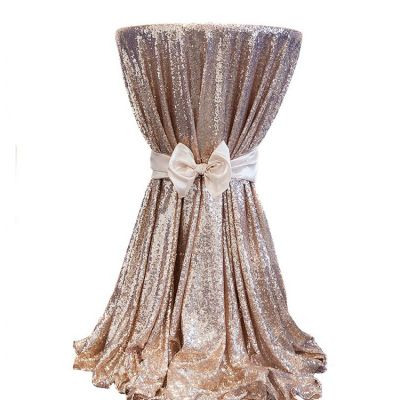 Sequin 132 Table Cloth - Champagne