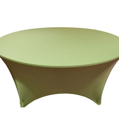 Spandex Lycra 6ft Round Table Cloths - Lime