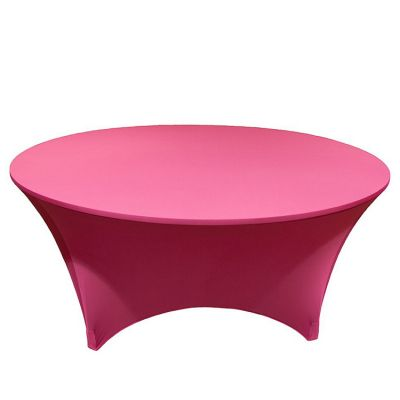 Spandex Lycra 6ft Round Table Cloths - Hot Pink