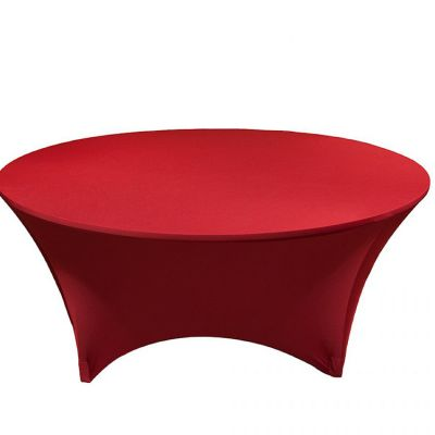 Spandex Lycra 6ft Round Table Cloths - Garnet