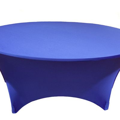 Spandex Lycra 6ft Round Table Cloths - Royal Blue