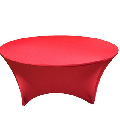 Spandex Lycra 6ft Round Table Cloths - Red