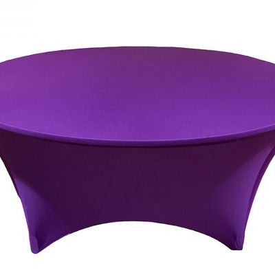 Spandex Lycra 6ft Round Table Cloths - Purple