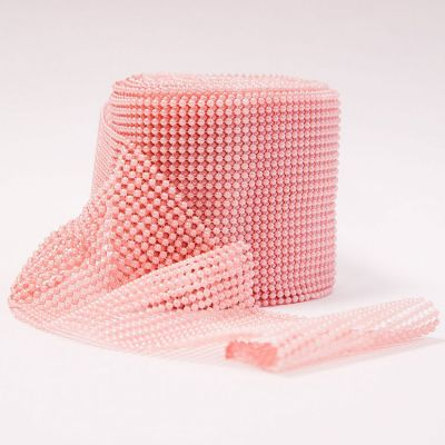 Pearl Mesh Roll - Pink