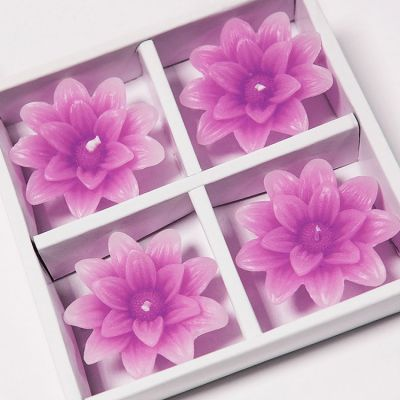 Floating Lotus Candles 4 Pack - Fuchsia