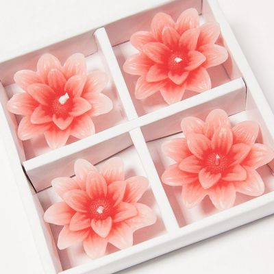 Floating Lotus Candles 4 Pack - Light Pink