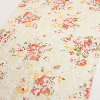Lace Runner - Vintage Rose Print