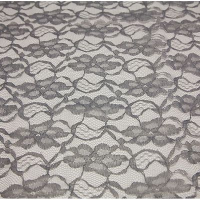 Lace Overlay 90 x 90 - Dark Silver