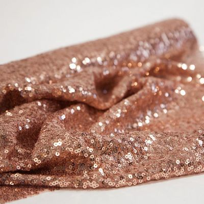 Sequin Fabric Roll 50cm x 3m - Blush Pink