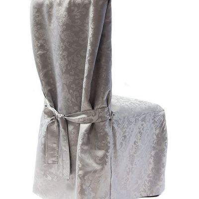 Dining Chaircovers with Ties RJ03 - Silver