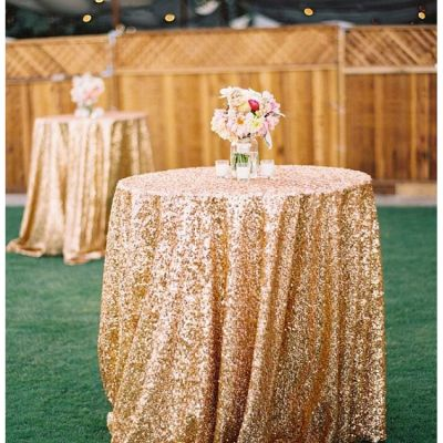 Sequin 120 Table Cloth - Gold