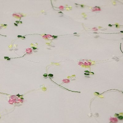 Floral Embroidered Organza Runner