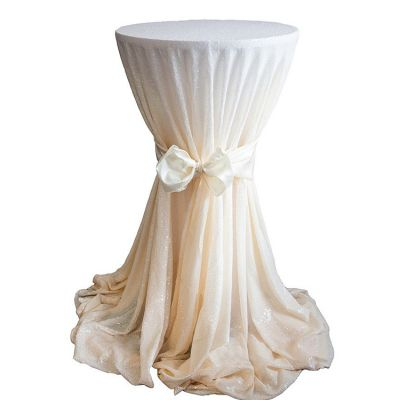 Sequin 132 Table Cloth - Ivory