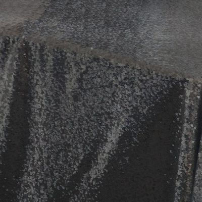 Sequin 70x144 Table Cloth - Black