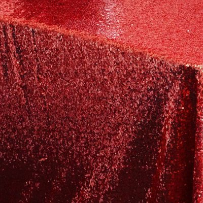 Sequin 70x144 Table Cloth - Red