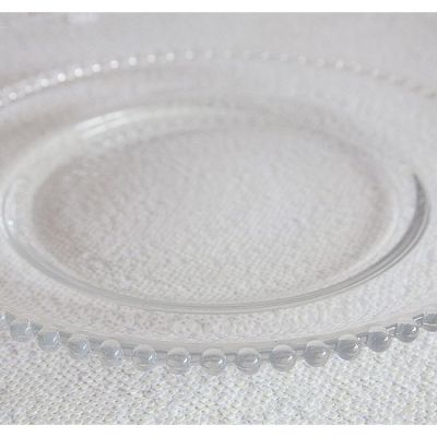 Charger Plate Clear Glass - Clear Beads