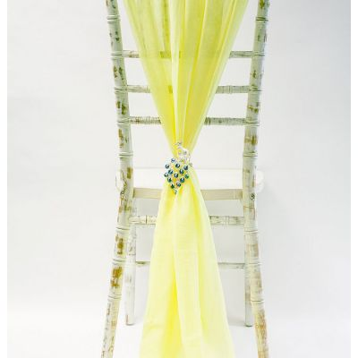 Chiffon Vertical Drops - Lemon