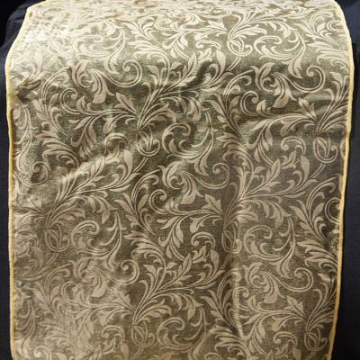 Flock Organza Table Runners - Gold