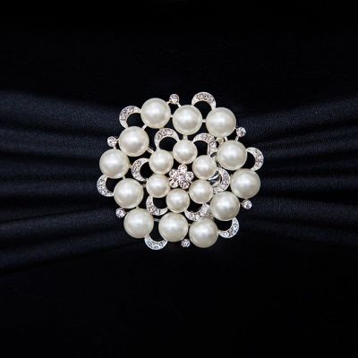 Pearl Galore Brooch Silver M4446 6 Pack