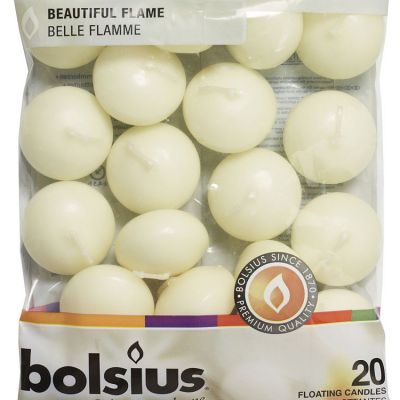 Bolsius Floating Candles Ivory - 20 Pack