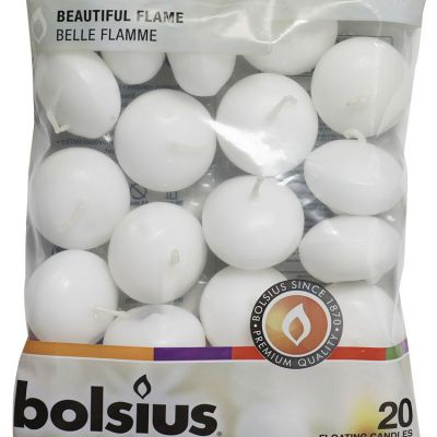 Bolsius Floating Candles White - 20 Pack