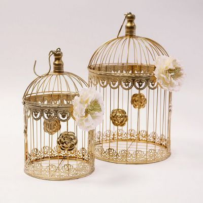 Gold Birdcage Set of 2 YW4105