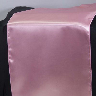 Satin Table Runner - Candy Pink