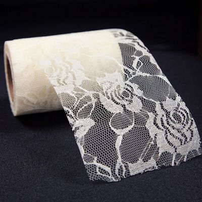 Rose Flower Lace Roll - Cream