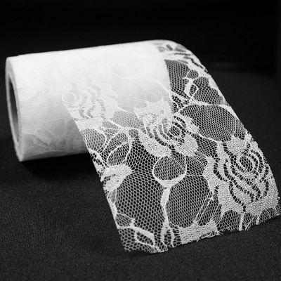 Rose Flower Lace Roll - White