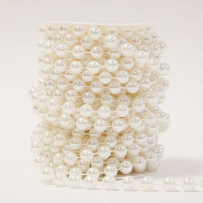 Pearl String Garland Reels 10MM - White