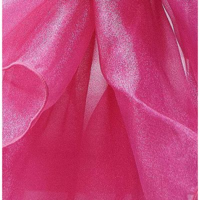 Square Organza Overlay 90 x 90 - Hot Pink