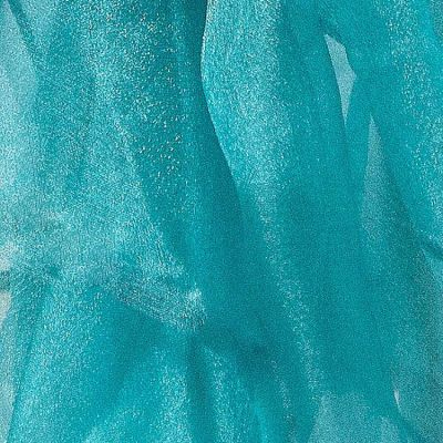 Square Organza Overlay 90 x 90 - Teal