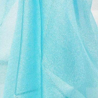 Square Organza Overlay 90 x 90 - Turquoise