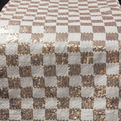 Checked Sequin Table Runner - Champagne