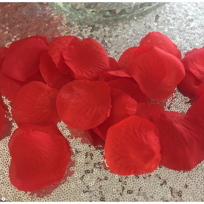 Large Silk Rose Petals 500 Pack - Red