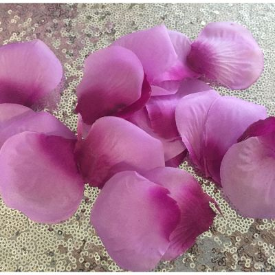 Large Silk Rose Petals 500 Pack - Purple