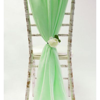 Chiffon Vertical Drops - Mint