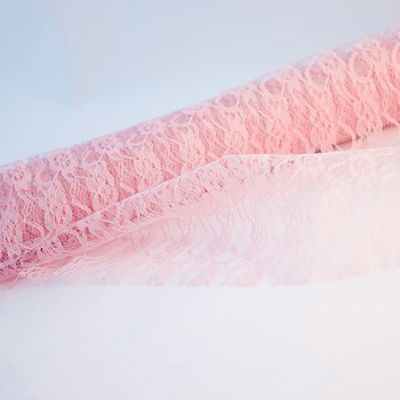Lace Fabric Roll 70cm x 10m - Vintage Pink