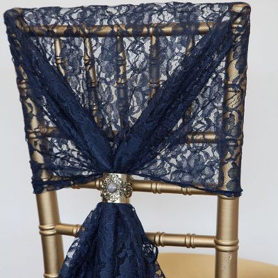 Lace Hood - Navy