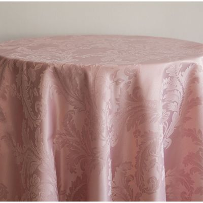 Damask Table Cloths 90 x 90 - Blush Pink