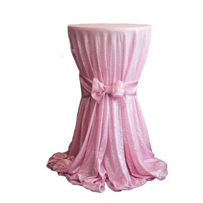 Sequin 120 Table Cloth - Light Pink