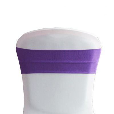 Lycra Chair Bands - Cadbury Purple