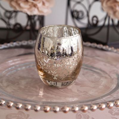 Large Rounded Tealight Holder - Champagne