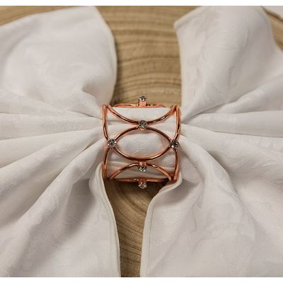 Crown Jewels Napkin Rings Rose Gold - 6 Pack