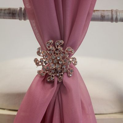 ROSE GOLD DIAMANTE BROOCH TX3588 6 PACK
