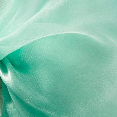 Silk Organza Fabric - Sea Foam Green