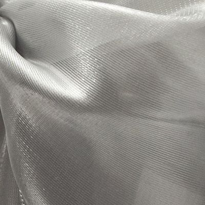 Silk Organza Fabric - Grey