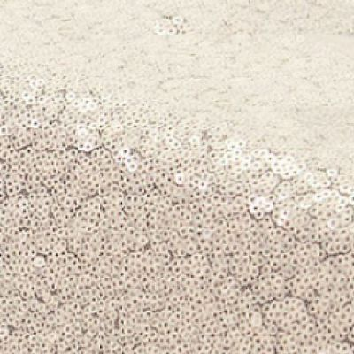 Sequin Fabric Roll 20M - Ivory