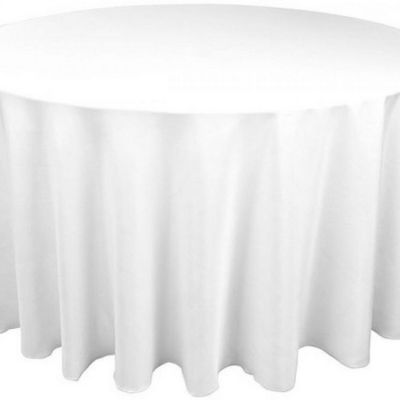 Table Cloth Spun Poly 90 Round - White